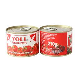 Tamanho populares 210g de conservas de tomate para o mercado da Nigéria