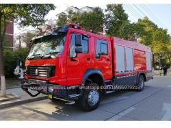 HOWO Sinotruck 4*4 9000 litros de água e espuma para as vendas de caminhões de combate a incêndios