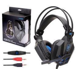 Grande taille antibruit confortable jeu stéréo casque avec télécommande et micro pour PC, comprimé, ordinateur portable et ordinateur.