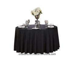 Commerce de gros Polyester gaufré dîner Table ronde de tissu noir