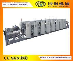 6 couleurs Haute vitesse Type d'unité papier Machine d'impression flexographique