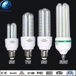 5W E27 3U, resalte la opción Borrar vidrio lechoso en forma de U LED Lámpara de ahorro de energía