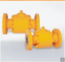 Manual/engranajes helicoidales de acero al carbono/NEUMÁTICO Válvula de bola flotante de brida