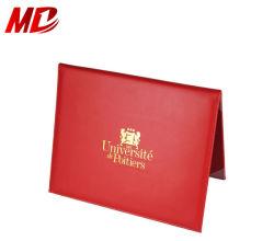 PU rojo/marrón Diploma de Graduación personalizado Estilo libro de tapa
