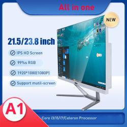 Todos os desktops em um computador PC 23,8 polegadas com processador Intel Core i3, I5, i7 para jogos Office