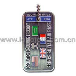 Chaîne de clés / Militaire Dog Tag chaîne à billes (LJ056)