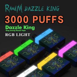 Randm Dazzle King Disposable Device 1100mAh 배터리 프리필드 8ml 3000 Vape Stick을 퍼프
