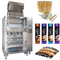 Multilane automática Açúcar Leite em pó de café Cacau Stick Pack de máquinas de embalagem