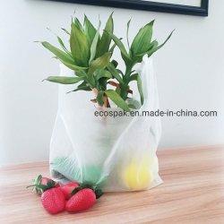 Personalizar el 100% biodegradables de fécula de maíz Pbat gratis PLA Vest Bolsa de compras