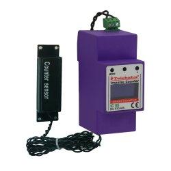 7 Цифры 0-9999999 светодиодный дисплей CR123A Аккумуляторная батарея площади скачков напряжения датчика удара молнии импульсный счетчик