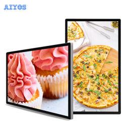 شاشة LCD 32 43 49 55 65 75 بوصة للتثبيت على الحائط شاشة تعمل باللمس لعرض الإعلانات الرقمية مع نظام إدارة المحتوى