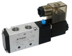 """5/2 4V210-08 DC24V/12V одного типа G1/4"""" электромагнитный клапан Pnematic потоков"""