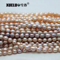 10-11mm AAAの高品質の多彩な実質の自然な培養された淡水の真珠はひもでつなぐ製造者(XL190027)を