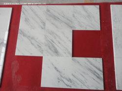 工場カスタム花崗岩 / カルザイサイト中国 Carrara の白色大理石の大きさに切られる キッチン付きのバスルームの床はタイル張り