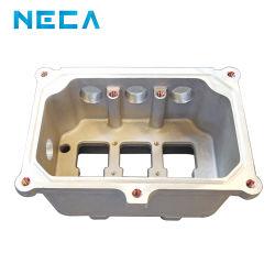 hecho personalizado del motor de aluminio mecanizado CNC Caja de empalmes