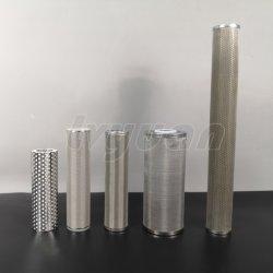 10 20 30 40 pulgadas Ss 316L de metal sinterizado de acero inoxidable de 10 micrones Filtro de agua industrial para la filtración de líquidos