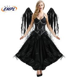 Новые Хэллоуин темно-Sexy Angel костюм плюс размер Cos Колдунья костюм