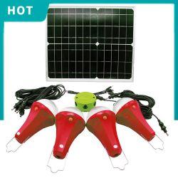 angeschaltene 20W Solarleselampen, Sonnensystem mit Solarlicht. Globale Sonnenaufgang-Lichter
