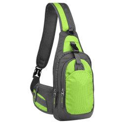 RPET (vert) Sling Sac, Sac à dos résistant à l'extérieur de l'eau de l'épaule à la poitrine Crossbody sacs Pack
