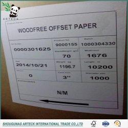 80g/m² a 300 gramos de rollo de papel offset blanco para el papel de imprenta