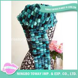 Зимние новизны моделей акрилового волокна шерсти POM POM пряжи трикотажные шарфы