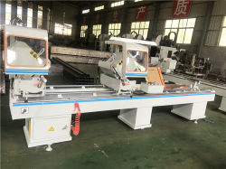 Suministro de fábrica Barata UPVC puerta ventana de PVC haciendo doble jefes sierra de corte para el 45 y 90 grados el corte/ máquina de hacer de la ventana de PVC