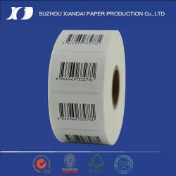 Kundenspezifische verpackende selbstklebende gedruckte Aufkleber-thermische Barcode-Kennsatz-Rolle