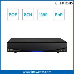 Grabación en tiempo real de 720p/1080P NVR 8CH ONVIF NVR CCTV