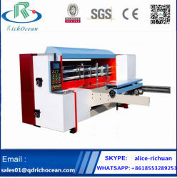 Automatische gewölbte Karton-Kasten-Pappe-stempelschneidene Drehmaschine (Rollentyp)