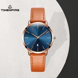 Horloge van de Mensen van het Kwarts van de Riem van het Leer van het roestvrij staal het Waterdichte (72884)