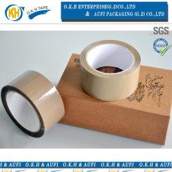 Un nastro dell'imballaggio del Brown BOPP di qualità del grado per l'imballaggio della casella