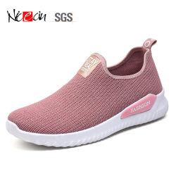2019 Nouveau respirante occasionnels chaussures de course de la femme de confortables chaussures de sport mesh tissé de vol de style à chaud