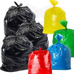Grande nero concimabile dei rifiuti di Pbat PVA del picchiettio del LDPE dell'HDPE del PE per il sacchetto di plastica personalizzabile biodegradabile di stampa dell'immondizia pulita del Drawstring della maniglia del banco dell'ospedale