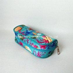 Il mare sgrana il regalo promozionale del sacchetto $1 cosmetici blu delle stelle marine del raso