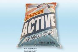 Poudre active de détergent liquide de lavage de blanchisserie de produits d'entretien du ménage 10kg d'emballage en bloc économique