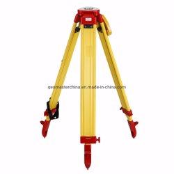Geomaster 測量機器 Lica 、 Sokkia 、 Topcon 、 Nikon 、 Trimble 、 Geomax 、 Geotool 用ヘビーデューティ木製三脚 GF-W18A3