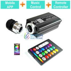 La musique activée Moteur lumineux pour LED RGBW pour voiture Accueil Utilisation du contrôleur à distance RF/Mobile App Smart Phone Easy Control Source de lumière
