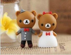 OEM de promotion de l'ours de silicium de lecteur Flash USB Stick USB