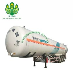 China-kälteerzeugende Flüssigkeit CO2 3 Tanker-halb Schlussteil-Gas-Becken-LKW-Schlussteil der Wellen-LNG