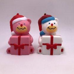 O Natal ostentar a subida lenta novidade brinquedos PU Squeeze Squishy Toy