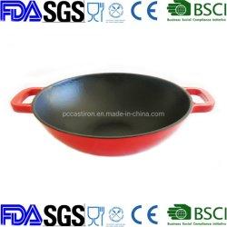 """OEMのエナメルの鋳鉄の中華なべ30cmは11.8の"""" BSCI、LFGBのFDA工場中国を承認した"""