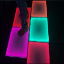 Etapa 3D RGB sensível à pressão LED interativo de Dança para a festa de Natal DJ Discoteca caso