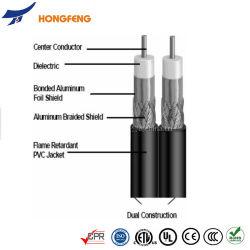RG6/RG59/RG11 Cable Coaxial Doble con Messenger