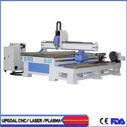 4 ejes de la Carpintería CNC máquina de grabado de materiales de metal con un diámetro de eje de rotación de 300mm