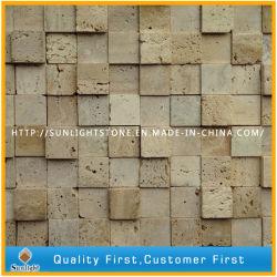 浴室の壁のタイルのための自然なイタリアのベージュTravertineの大理石のモザイク