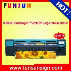 Super Velocidade! ! Impressora Infiniti Challenger, máquina de impressão de Banner Flex Digital Preço (258m2/h 12 SPT510-50 PL chefes)