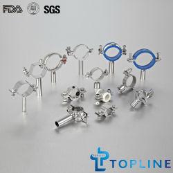 Support de tuyaux en acier Sainless sanitaires, le collier de tuyau