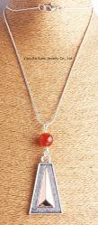 La mode Anti d'argent et or rose Collier pendentif Triangle
