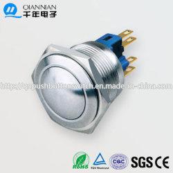 22mm cabeça convexa para montagem de PCB Intertravar os Interruptores electrónicos