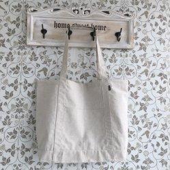 Pocket Outsideの昇進のHot Sale Hemp Shopping Bag
